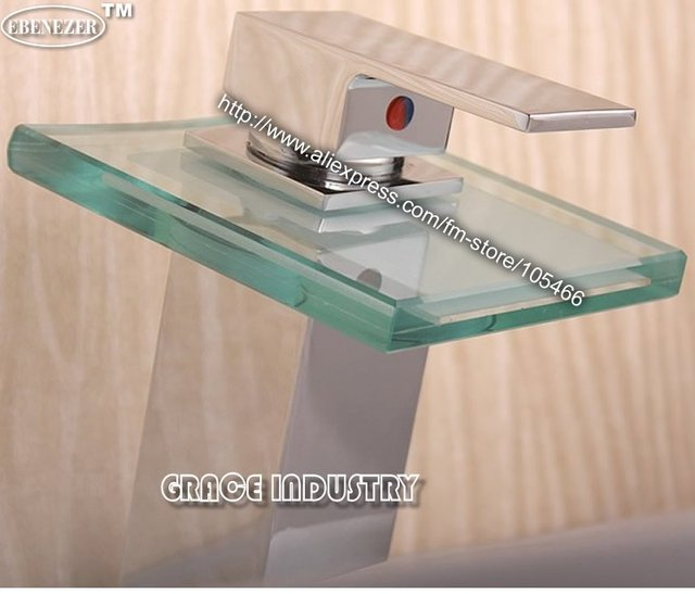 hot sale,basin waterfall faucet,waterfall tap,glass faucet,vessel sink faucet,discount,promotion