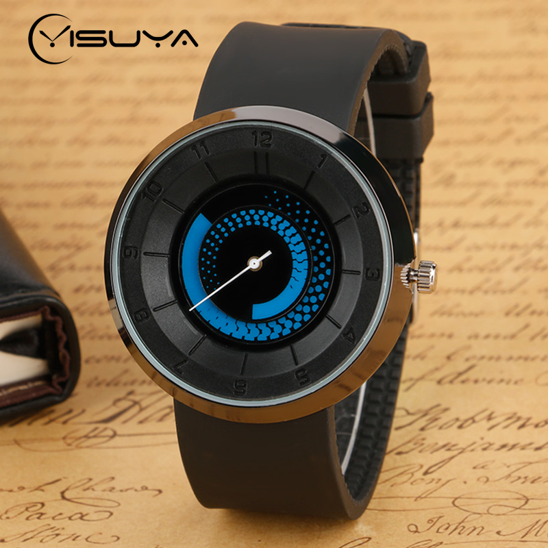 Creative Watches Tire Lines Pattern Dial Men Steampunk Fashion Black Analog Quartz Wrist Watch Rubber Strap Student Clock цены онлайн