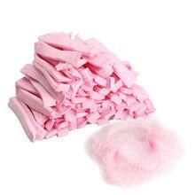 Toucas de banho dos homens das mulheres para o produto do banheiro do salão de beleza dos termas 100 pces não-tecido tampões de chuveiro descartáveis plissados anti poeira