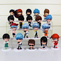 19 unids/lote Figuras de Acción Muñecas Gintama Sakata Gintoki Silver Soul Katsura Kotaro Hijikata Toushirou Figura Juega El Envío Libre