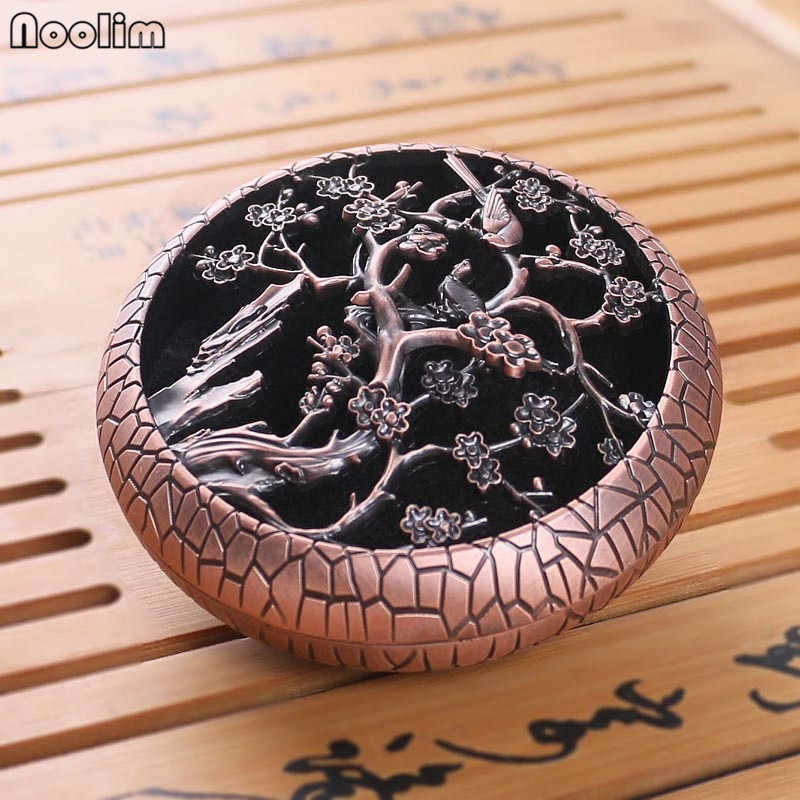 NOOLIM Incense burner home decor antique copper incense burner Plum orchid bamboo chrysanthemum For Living Room and Home Office