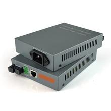 1 Pair HTB GS 03 A/B Gigabit Fiber Optical Media Converter 1000Mbps Single Mode Single Fiber SC Port with Built in Power Supply