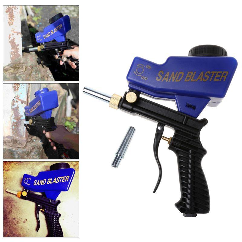 Gravidade Pistola de Jateamento Abrasivo Máquina Pneumática portátil Conjunto de Remoção de Ferrugem Local Dispositivo De Jateamento