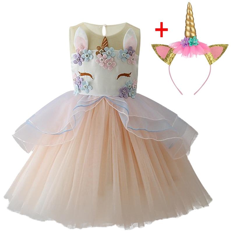 HTB1AecVXU rK1Rjy0Fcq6zEvVXap Unicorn Dresses For Elsa Costume Carnival Christmas Kids Dresses For Girls Birthday Princess Dress Children Party Dress fantasia
