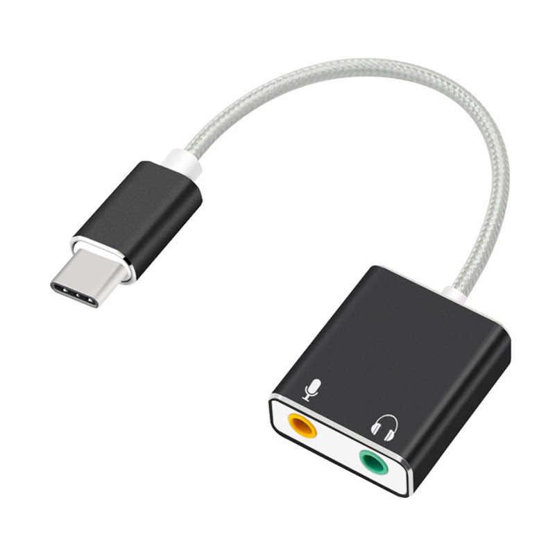 7,1 внешняя звуковая карта type-C USB 3,1 Для Macbook Pro Air USB C с аудиоразъемом 3,5 мм порт для наушников микрофонный адаптер