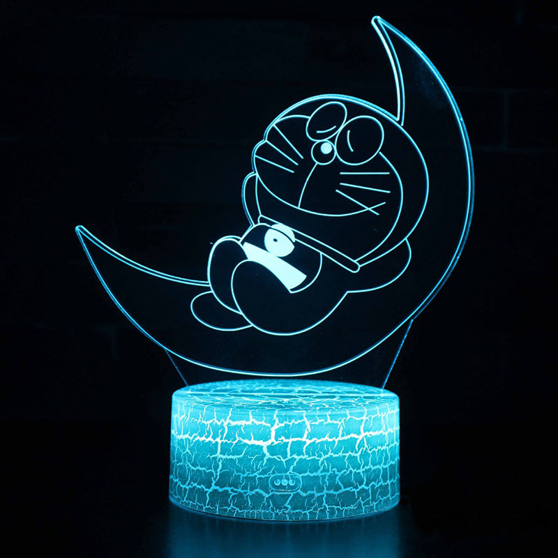 Moon Doraemon theme 3D Lamp LED night light 7 Color Change Touch Mood Lamp Christmas present DropshipppingMoon Doraemon theme 3D Lamp LED night light 7 Color Change Touch Mood Lamp Christmas present Dropshippping