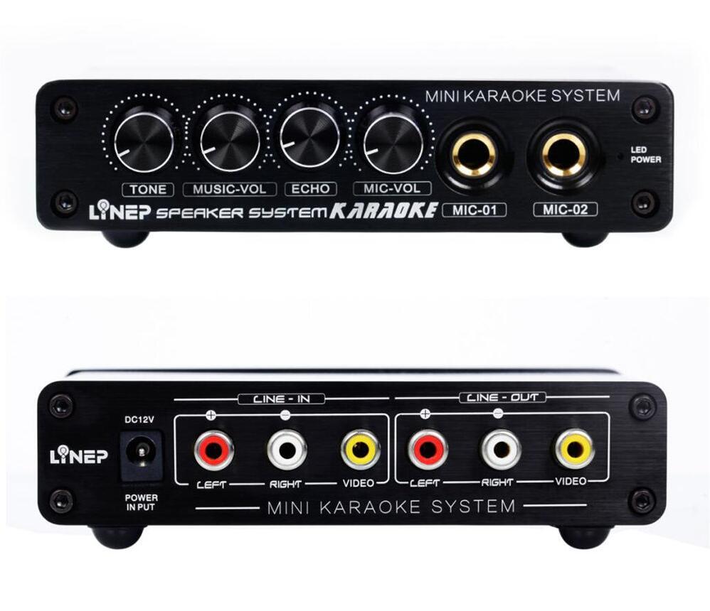 2018 Lastest Nobsound Mini Mixer KARAOKE System Audio Process Stereo HiFi Pre-Amplifier Microphone  Home Audio Amplifier
