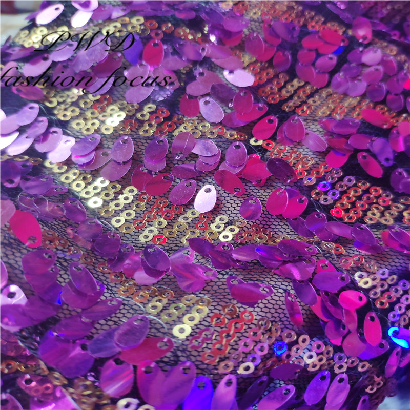 Rainbow Sequin Tulle Sparkle Dance Party Dressmaking Backdrop Craft Fabric
