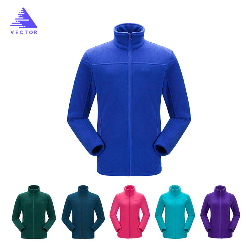 VECTOR Fleece Jacket Women Camping Fottøy Jakker Full-Zip Menns Outdoor Jacket Coat Par Soft Fleece Jackets 6 Colors