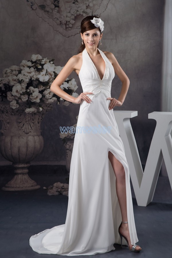 free shipping 2018 design new arrival custom size color vestido de noiva halter white gown luxury real photo bridesmaid dress in Bridesmaid Dresses from Weddings Events