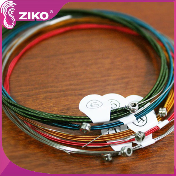 Ziko DPA-028C Colored Coated Colorful Classical Guitar Nylon Strings, Silver Wound, Medium Tension