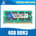 DDR3 4GB 1600NHz PC3-12800 So-dimm Ram Compatible ddr3 1333 PC3-10600 ddr 3 204pin For AMD Intel Laptop Lifetime Warranty