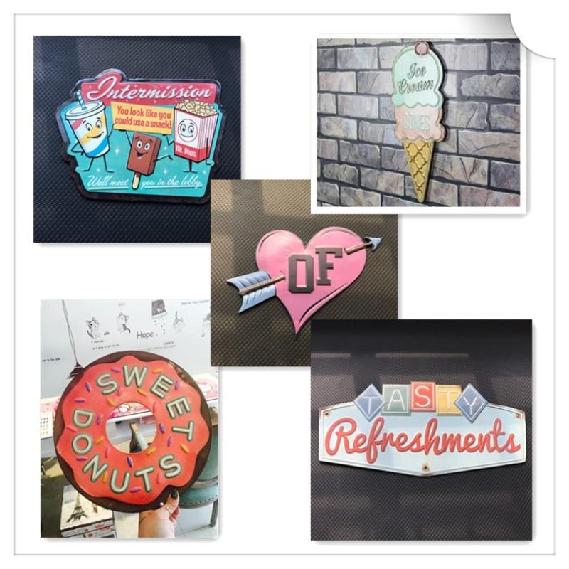 Арнайы реңкте Vintage Tin белгішесі бар - Үйдің декоры - фото 5