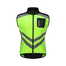 WOSAWE светоотражающий жилет для велоспорта Ciclismo мотоциклетная Спортивная команда униформа велосипедПредупреждение высокая видимость Безопасный Жилет зеленый