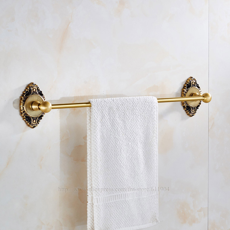 High Quality 24 Inch Brass Bathroom Towel Bar Rail Rack Single Holder Bath towel bar bathroom accessories 3EG2321 2pcs high quality 1 2 inch shank rail