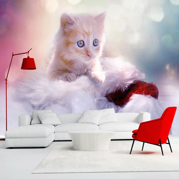 Cute 3D Cat Wall Decoration For Children Room-Free Shipping 3D Wall Stickers For Kids Rooms