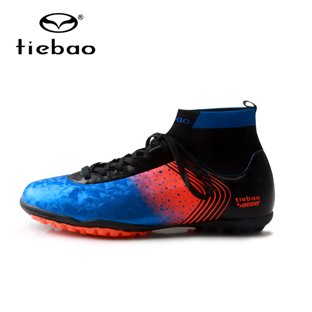 TIEBAO Brand Professional Men's Soccer Football Shoes Sneakers Outdoor TF Turf Ankle high Soccer Cleats Sneakers Adults Boots tiebao new men outdoor grass soccer shoes cleats for adults children sports football shoes brand football boots male size 35 44