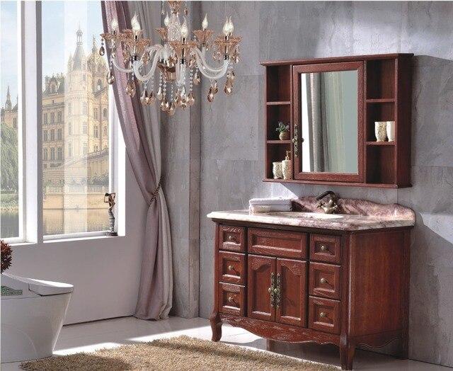 Nuovo design stile italiano legno mobiletto del bagno con specchio