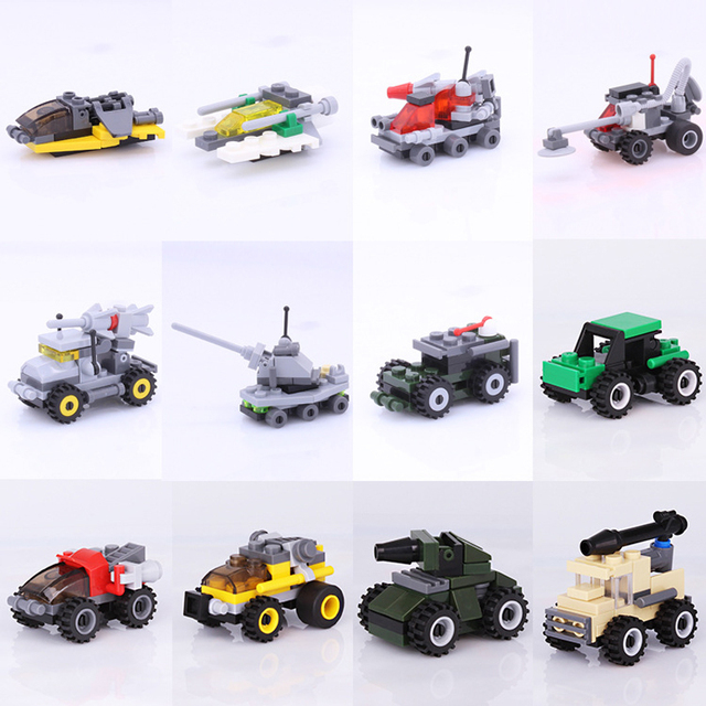toys blocks car model building kits assembly small particle building blocks chip toy bricks military series