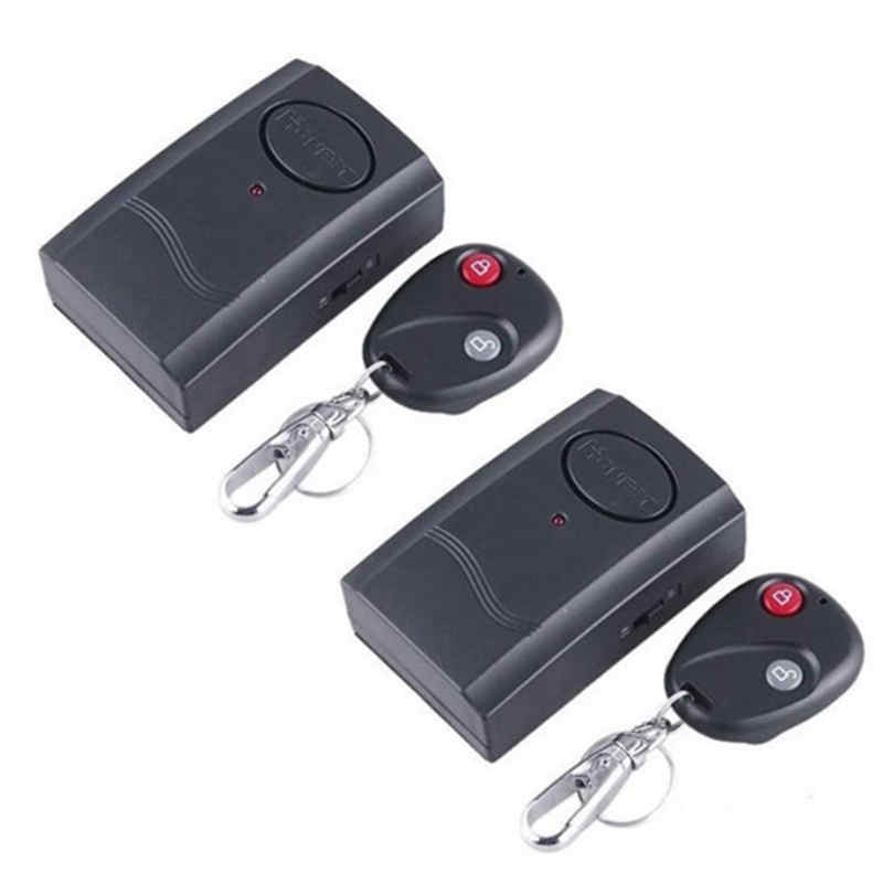2PCS Safurance 120DB Security Wirel ess Remote Control Vibration Motorcycle Car Detector Anti- theft Alarm Security System car alarm system keyless anti theft car system pke car alarm system smart remote control for toyota