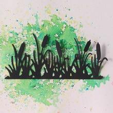 JC Metal Cutting Dies for Scrapbooking Bush Shrubbery Water Grass Stencil Handmade Paper Cut Card Make Model Decoration