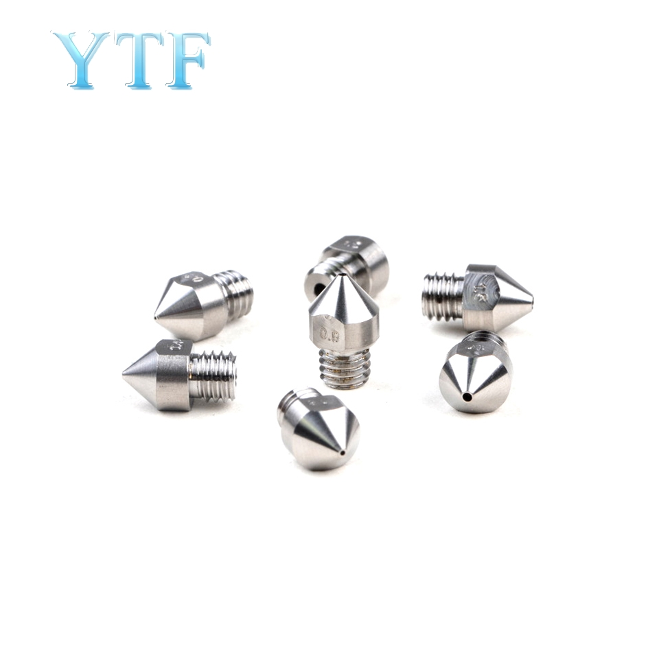 All-Metal MK7 MK8 Titanium Alloy M6 Threaded Nozzle TC4 For 1.75mm 3D Printer