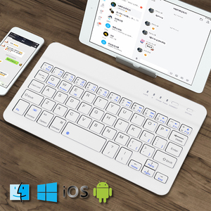 Image 2 - New Wireless Bluetooth  Laptop Keyboard Ultra Slim 7.9 in 59 Keys Rechargeable Portable Keypad For iPad iOS Android Windows PC