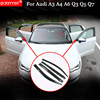 QCBXYYXH Car Styling Awnings Shelters Window Visors Sun Rain Shield Stickers Covers Auto Accessories For Audi