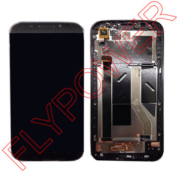 ФОТО 100% Warranty LCD Screen with Touch Screen Digitizer For Alcatel POP S7 OT7045 7045Y with Frame Black By Free DHL;10PCS/LOT