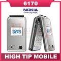 Мобильный телефон Nokia 6170, разблокированный перевёрнутый телефон двойной экран многоязычный отремонтированный