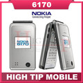 Nokia 6170 Original unlocked mobile phone Flip phone Double screen multilingual Free Shipping Refurbished
