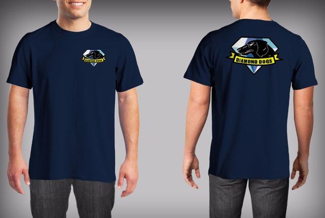 Fashion Diamond Dogs of War Print Black T Shirt Men The Metal Gear Solid Snake 5 V Phantom Pain Big Boss T-shirt O Neck Shirts
