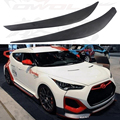 for Hyundai Veloster FRP Primer Car Headlight Eyelid Eyebrows Cover Trim Sticker