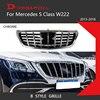S クラスメルセデスベンツ W222 クーペセダンクロームフロントレースグリル 2015-2018 S320 S400 S350 S500 s450 偉大な装備