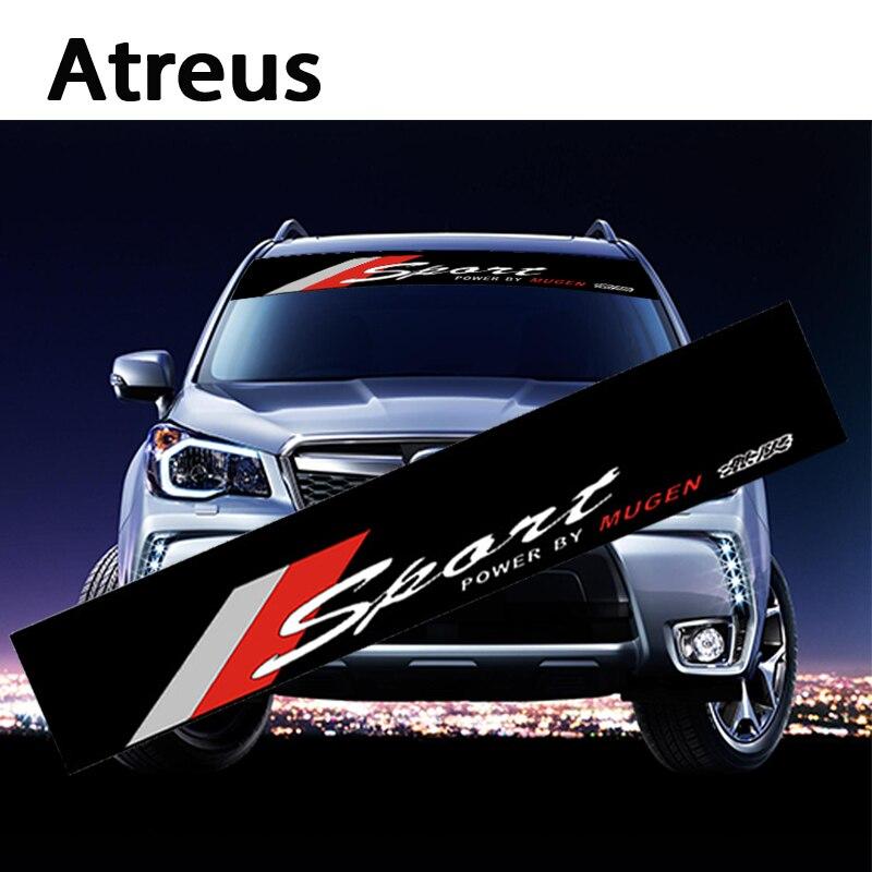 Atreus 1X Car Auto Front Window Windshield Decal Stickers For Honda Civic 2006-2011 Nissan Juke TIIDA Opel Mokka Vectra C corsa