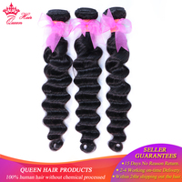 Queen Hair Products Brazilian Hair Bundles Loose Deep Wave Human Hair Extensions 3 Bundles Natural Color Fast Free Shipping Remy