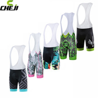 CHEJI Cycling Bib Short Men Breathable Pro Summer Classic MTB Bike Pants 3D Breathable Padded Quick