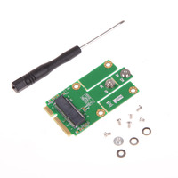 New Hot M2MP1 M 2 NGFF To Mini PCIe PCIe USB Adapter Support Full Size And