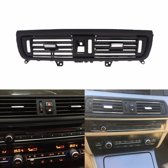 US $29 59 22% OFF|64229166885 New Car Front Console Center Grill Dash Panel  AC Air Heater Vent For BMW 5 Series 520 523 525 528 530 535-in