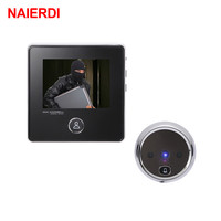 NAIERDI Smart Electronic Door Viewer 3 LCD Screen Digital Door Camera Doorbell Visual Peephole Camera Photo Recording