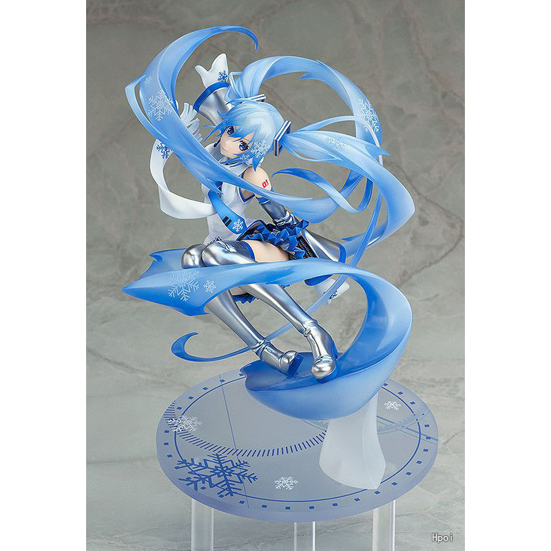 XINDUPLAN VOCALOID Anime Snow Hatsune Miku Winter Clothes Virtual idol Action Figure Toys 25cm PVC Kids Collection Model 1098 hot anime vocaloid hatsune miku action figures pvc brinquedos collection figures toys kids birthday christmas gift free shipping