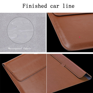 Image 5 - New Notebook Case Laptop Sleeve Cover For Macbook Air 13 Pro Retina 11 12 2018 15 Touch Bar For Xiaomi Pro 15.6 Leather Bag