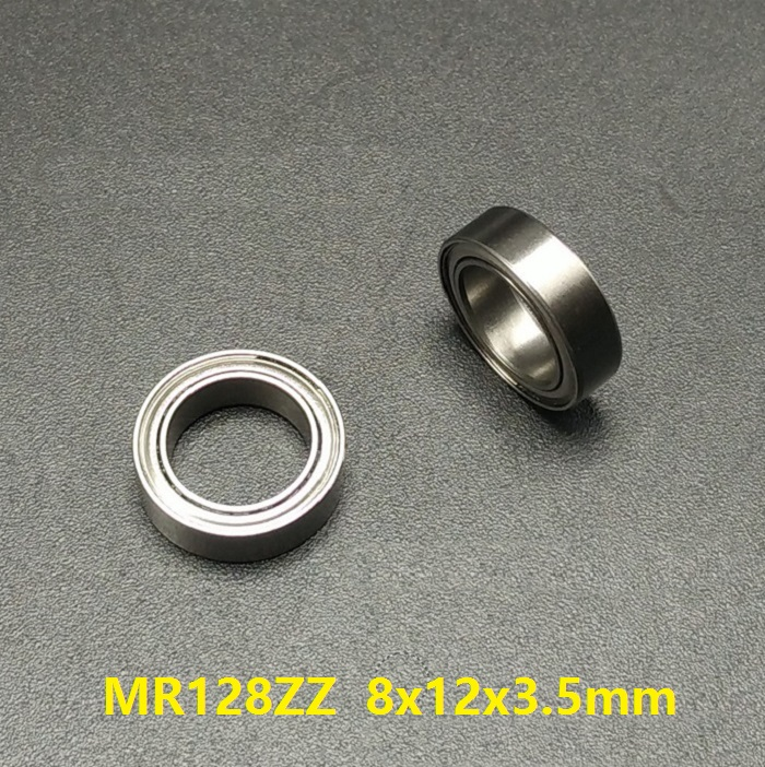 100pcs/lot <font><b>MR128ZZ</b></font> MR128 ZZ L-1280ZZ Deep Groove Ball Bearing 8x12x3.5mm Miniature MR128Z 8*12*3.5mm MR128Z 678ZZ image