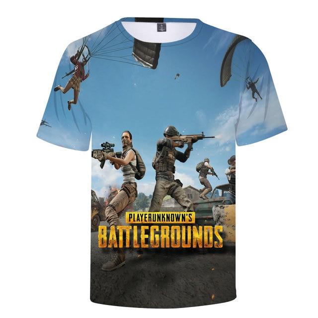3D Game PUBG T-Shirt Summer New T Shirt Men's/Women 2018 Fashion Casual 3D Tshirt Men Harajuku PUBG 3D T shirts Men Tops 1