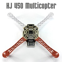 HJ 450 Multicopter 450F nylon Fiber Frame Casco kit Sterke Glad RC KK MK MWC 4-axle F02192 DIY Quadcopter vliegtuig