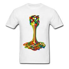17c68f59028 Free Shipping Tees Colorful Drip Cube Painting Abstract T Shirt Summer Tops  Man s Casual Tshirt Misfits