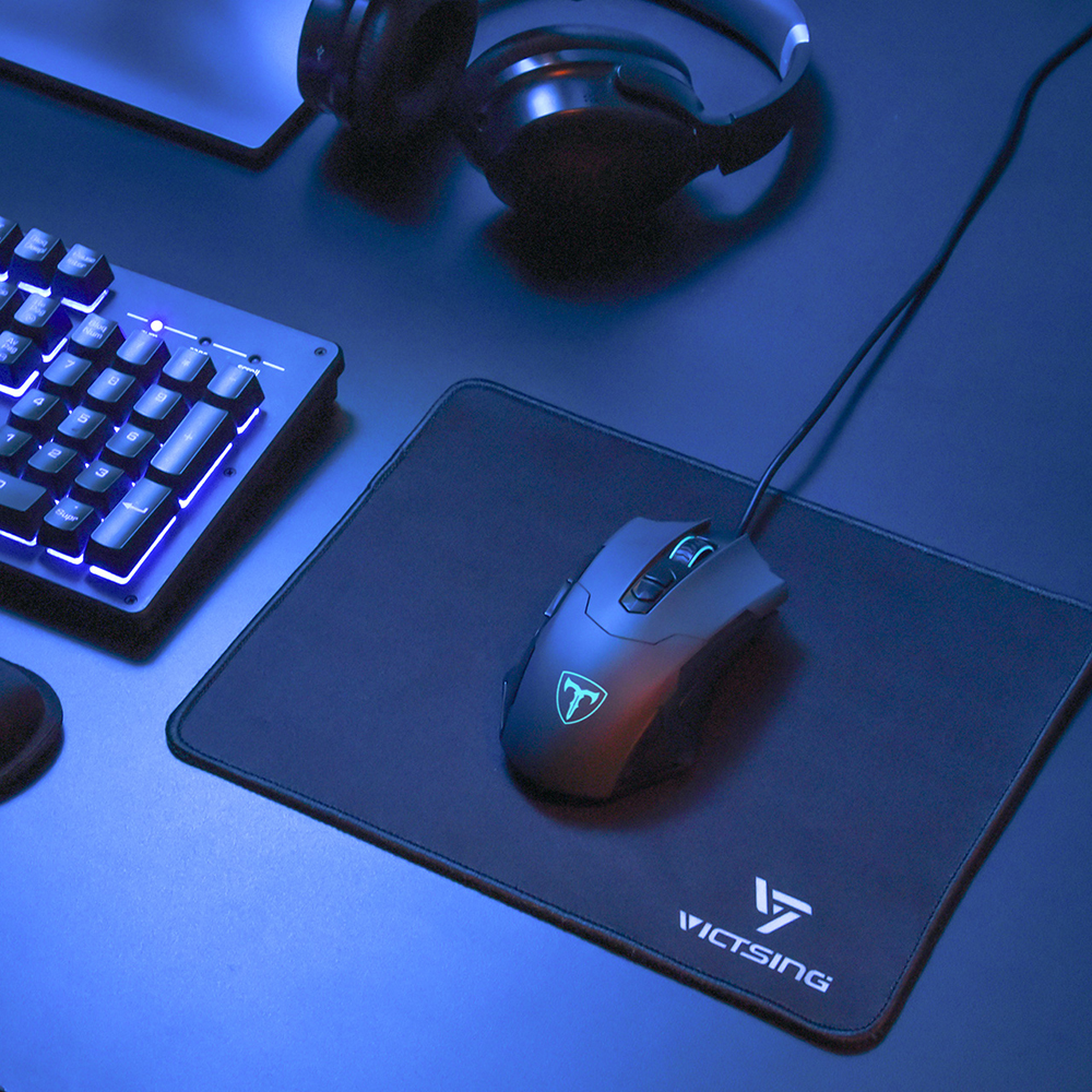 VicTsing Gaming Mouse Pad Stitched Edges Mousepad With Premium Textured Surface Non-slip Rubber Base For Gaming Mouse Keyboard (1)
