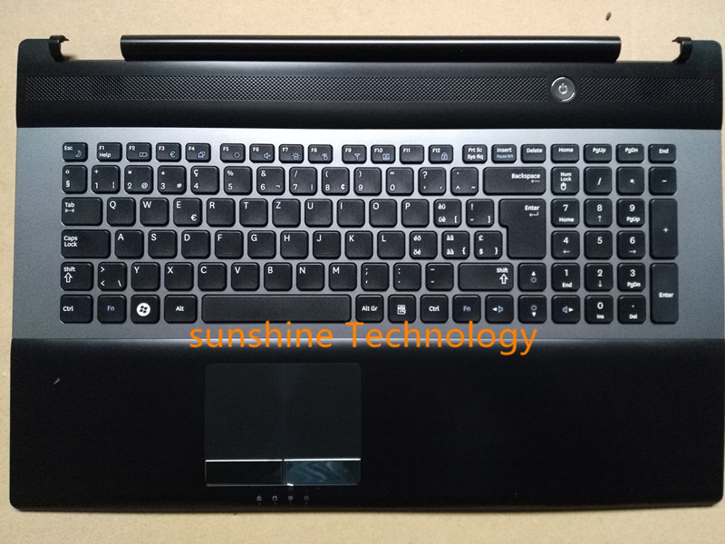 Swiss layout new laptop keyboard with touchpad palmrest for Samsung BA75-03204M RC730 цена