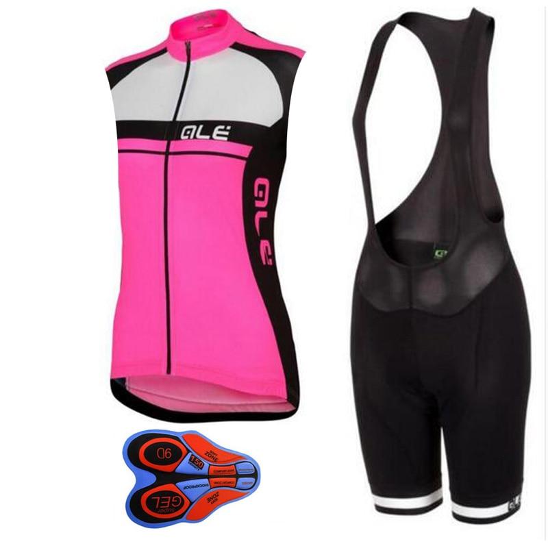 Prix pour 2017 Ale Femmes Vélo sans manches Jersey shorts de vélo Respirant ropa Ciclismo mujer Montagne vélo vêtements sportwear E201