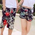 Новый быстросохнущие мода пляжные шорты для женщин и мужчин Купальники большой размер бордшорты мужские свободные любителей Купальник 19-27